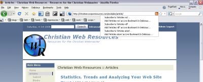 RSS with Firefox 3